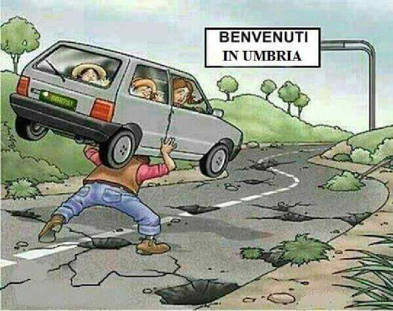 le strade in Umbria da Facebook